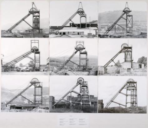 Pitheads 1974 by Bernd Becher and Hilla Becher 1931-2007, 1934-2015